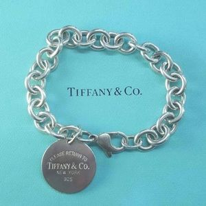 Authentic TIFFANY & CO Classic Round Tag Bracelet